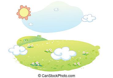 beautiful landscape summer