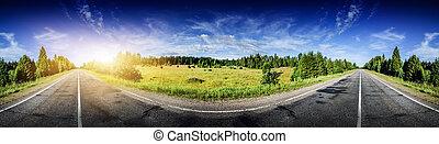 Beautiful road panorama