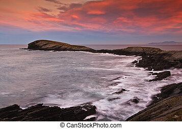 Beautiful seascape sunset