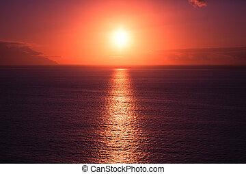 Beautiful sunset at seascape