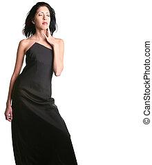 Beautiful Tall Ethnic Woman With Dark Hair