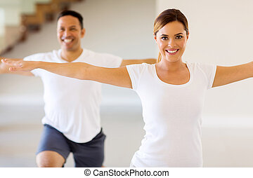 young woman doing body exercise