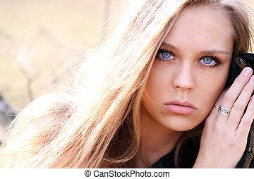 Beautiful young woman.