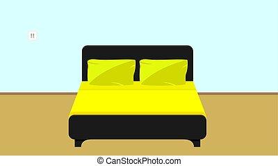 bed in a flat design