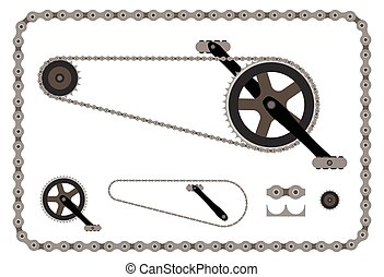 bicycle chain part vector illustration on white background