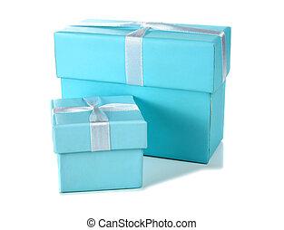 big and little blue box