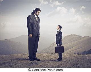 Big and little businessmen