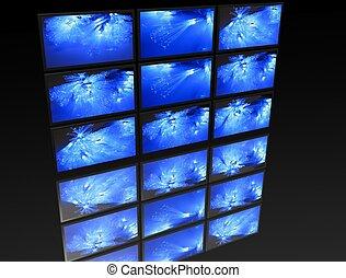 big panel of TV?s