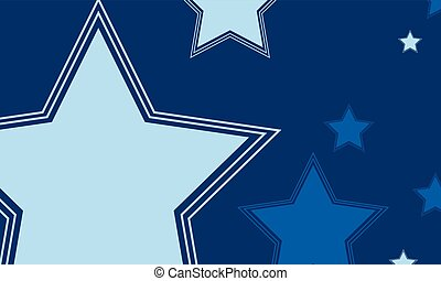 Big star design background collection