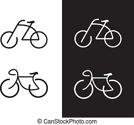 Bike - vector icon. Isolated design element. Sign. Can be used as logotype.