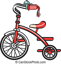 Bike Bicycle Trike Tricycle Clipart