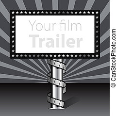 Billboard with film strip illustration