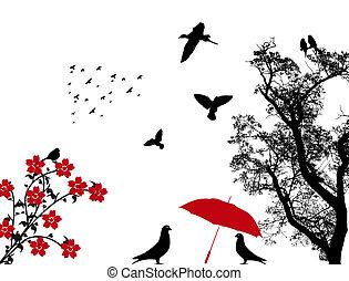 Birds background