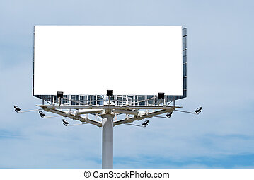 Blank billboard on cloudy sky, just add your text
