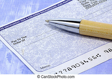 Blank Check and Pen