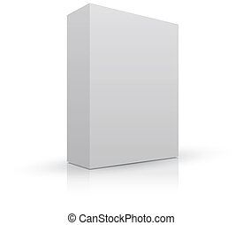 Blank box package to add your own image, with shadow and reflection.
