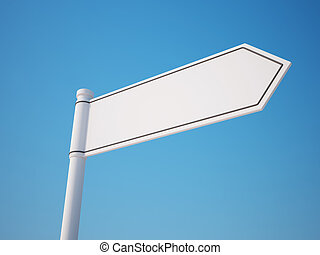 Blank Signpost isolated on clean sky