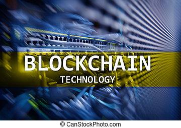 Blockchain technology, cryptocurrency mining server room data