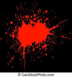 Blood splat on black