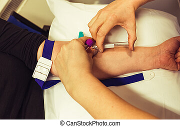 blood test at the clinic