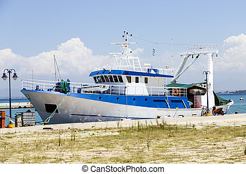 fishing boat at the pier