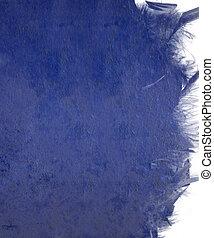 Blue cloudy gloss paint wall