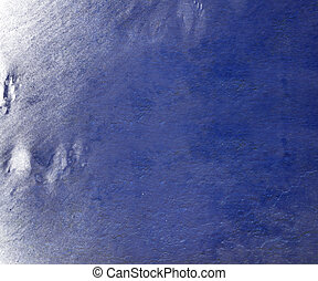 Blue cloudy paint wall