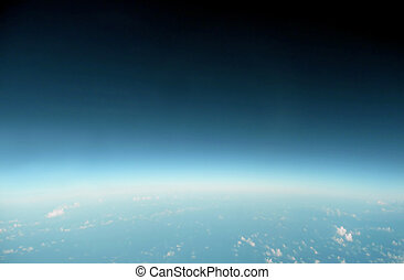 earth horizon from the edge of space