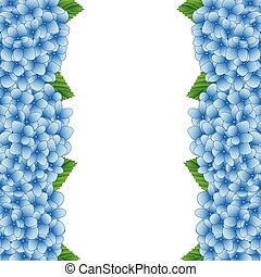 Blue Hydrangea Flower Border