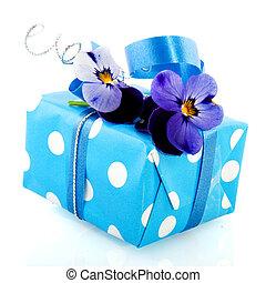 Blue present