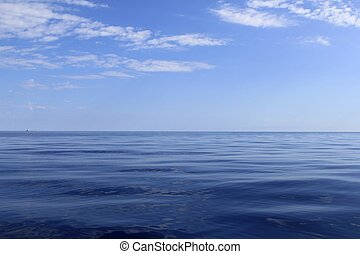 blue sea horizon ocean perfect in calm sunny day mediterranean