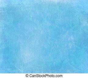 Blue sky chalk smudged handmade paper background