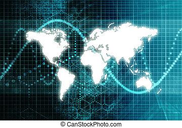 Blue Stock Market World Economy