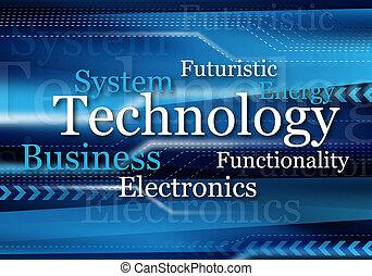 blue technology design for background