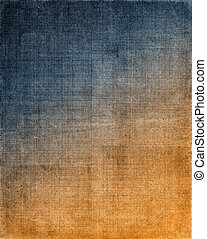 Blue to Orange Cloth Background