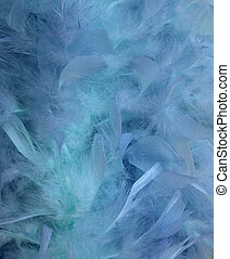 Blue water and feather blur background