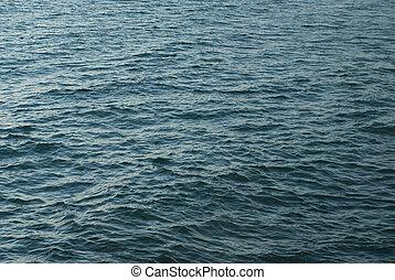 Blue water of Atlantic ocean