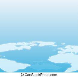 Blue World Map Background