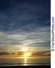 Blue Yellow Sunset