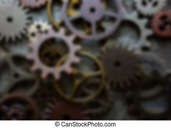 Blurred background machine gears