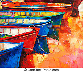 Boats and pier