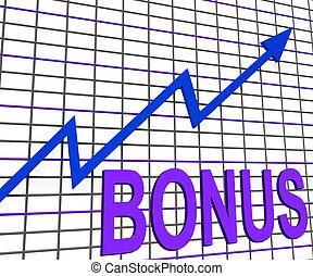 Bonus Chart Graph Shows Increase Reward Or Perk