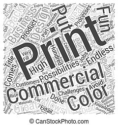 Booming Commercial Printing Business Word Cloud Concept