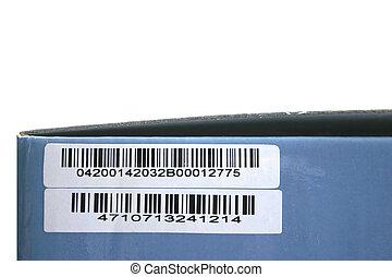 box with bar code