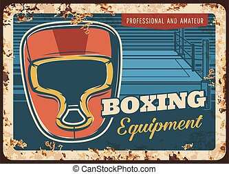 Boxing metal plate rusty, sport fight equipment
