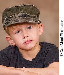 Boy In Army Cap