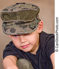 Boy with Tilted Hat
