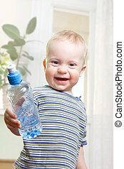 Boy with water