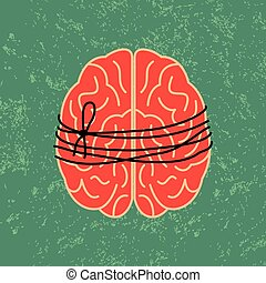 brain lock, mental idea