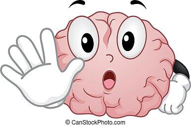 Brain Stop Illustration